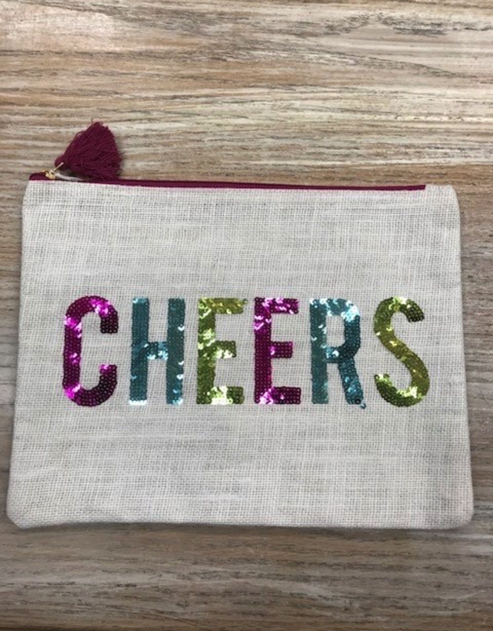 Bag Cheers Jute Sequin Bag