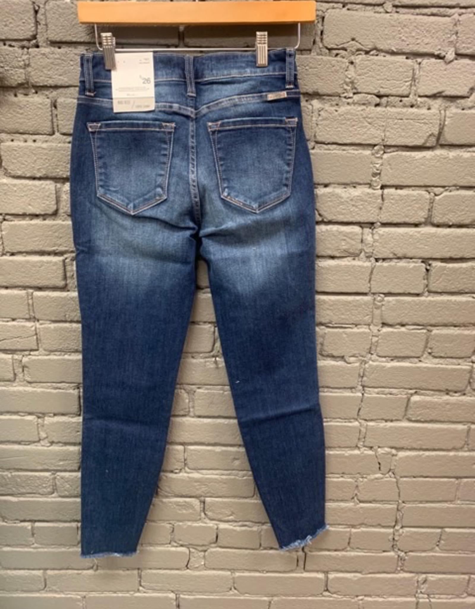 Jean Super Skinny Mid Rise Jean w/ Ankle Detail
