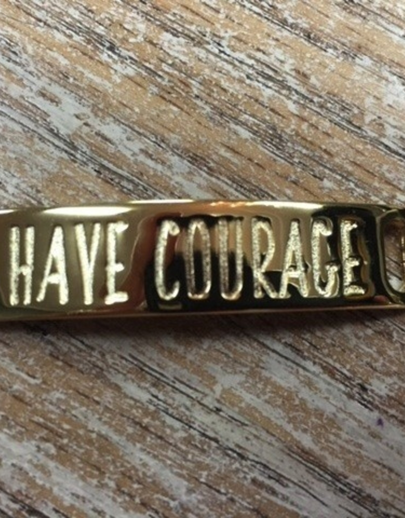 Jewelry Refined Sentiment Have Courage Gold