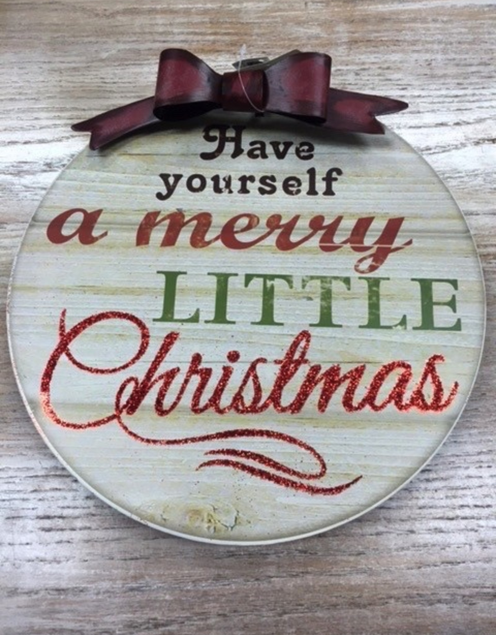 Decor Lit Have Yourself Ornament Sign
