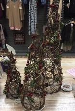 Decor 3 Lit Wire Christmas Trees