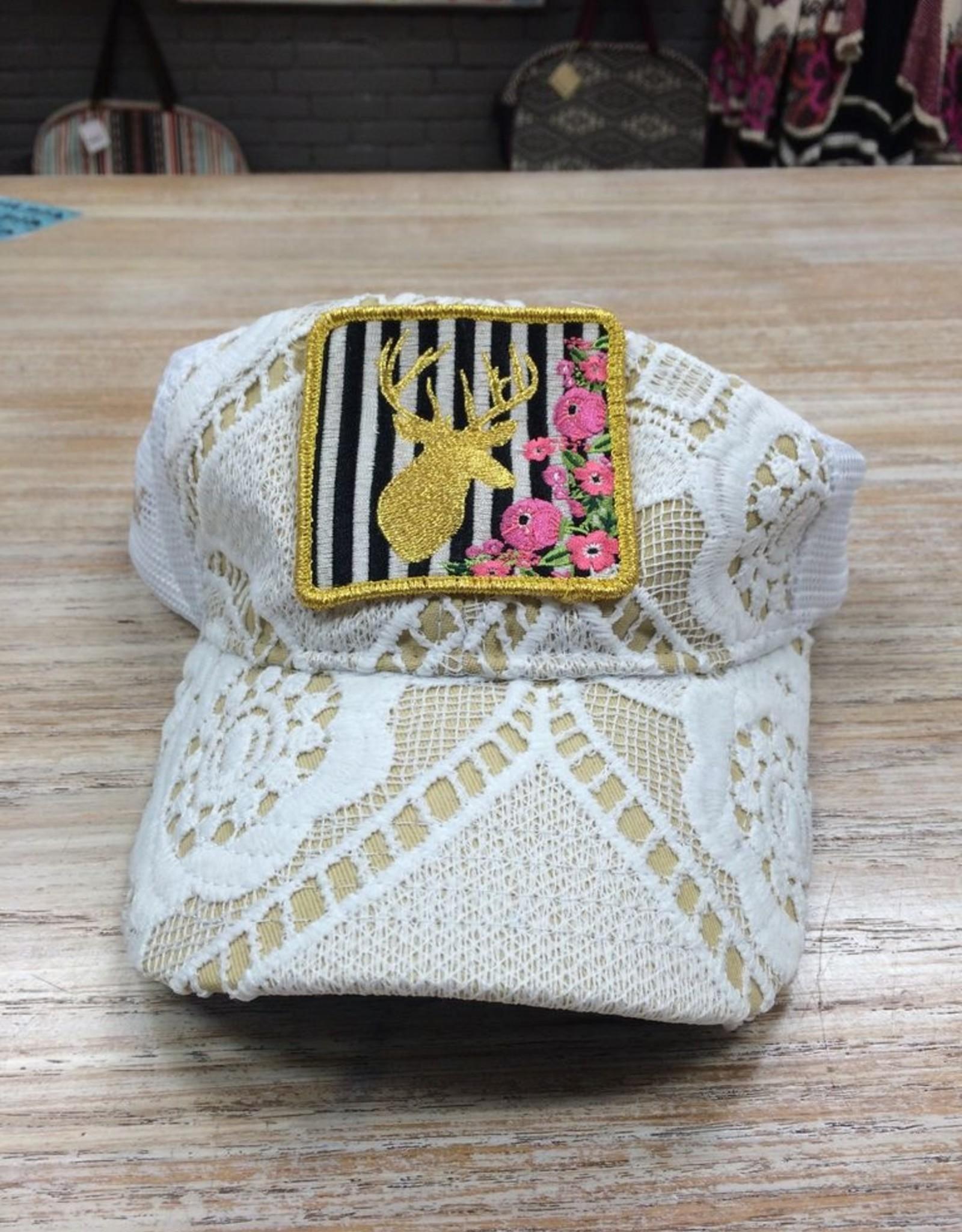 Accessory Golden Deer Crochet Hat