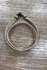 Jewelry Whitewash Leather Wrap