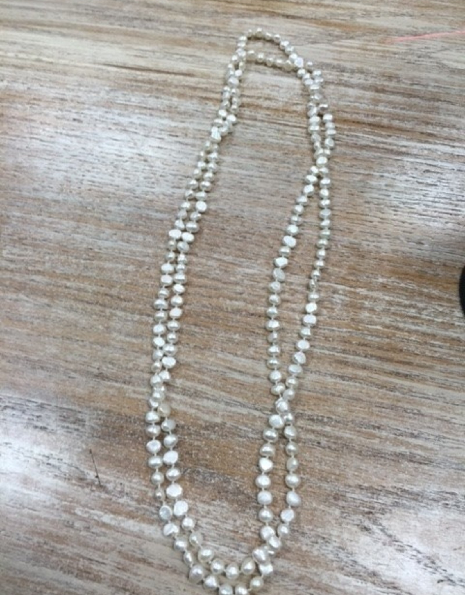 Jewelry White Pearl Wrap Necklace