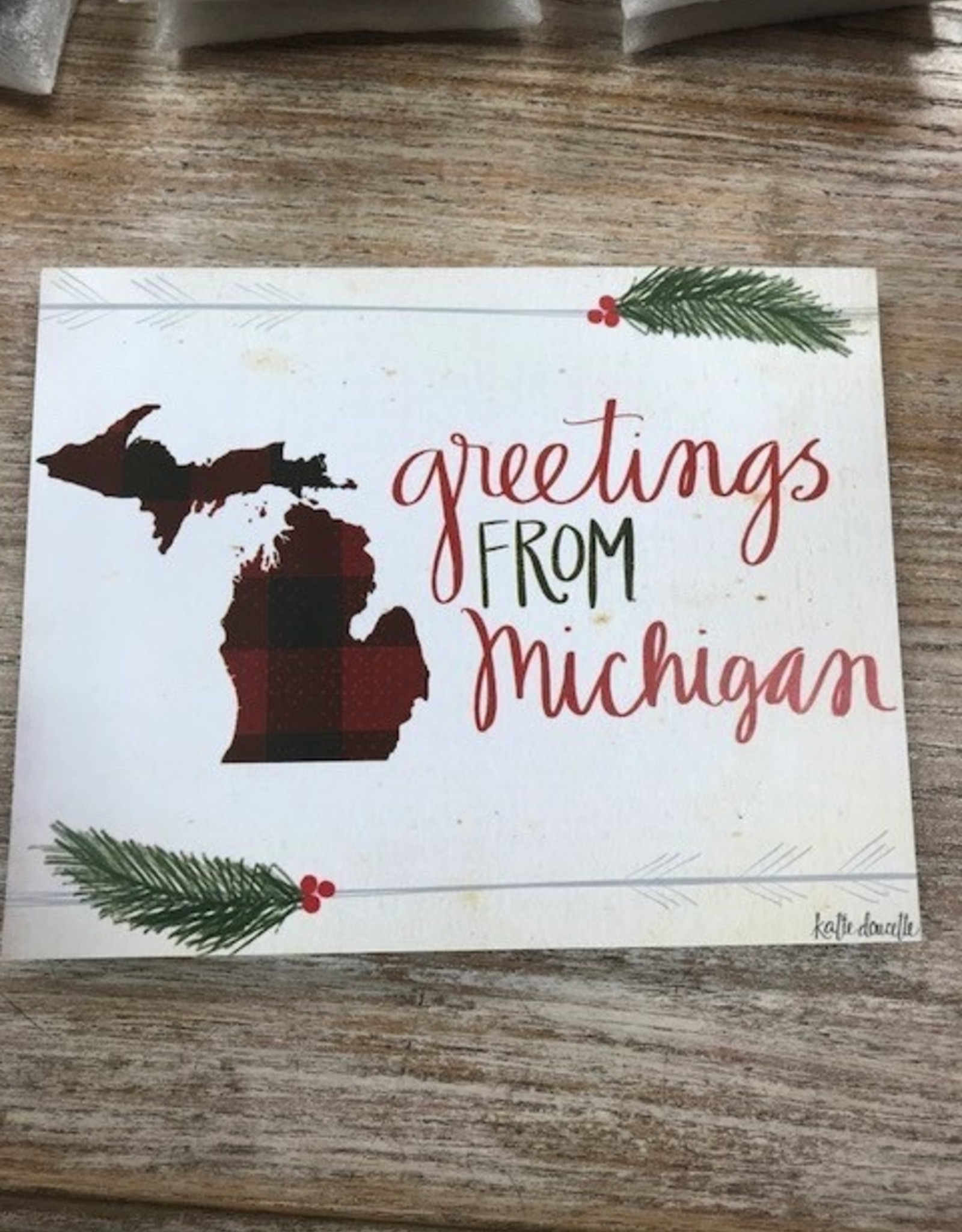 Decor Greetings From Michigan Sign