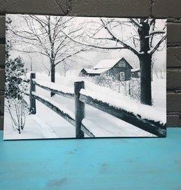 Decor LED Winter Barn Scene