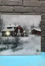 Decor LED Winter Farm Scene