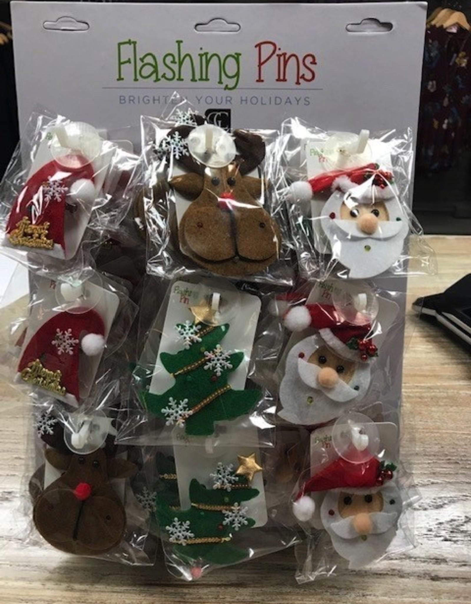 Decor Flashing Christmas Pins