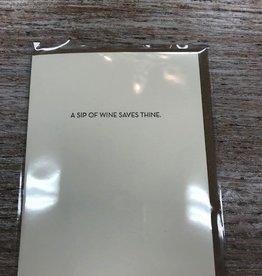 Card Sip Of Wine Card