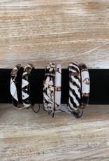 Jewelry Black White Zinc Alloy Bracelets