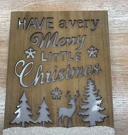 Decor Forest Deer Merry Christmast Lit