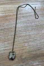 Jewelry Bronze Owl Locket Necklace