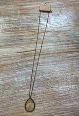 Jewelry Long Stone Gem Necklace