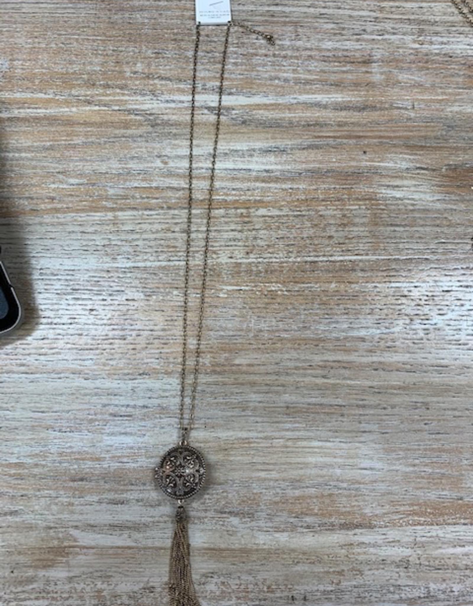 Jewelry Gold Floweret Locket Necklace