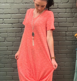 Dress Coral T-Shirt Dress