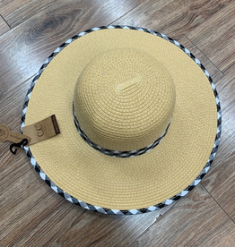 Hat CC Gingham Straw Hat