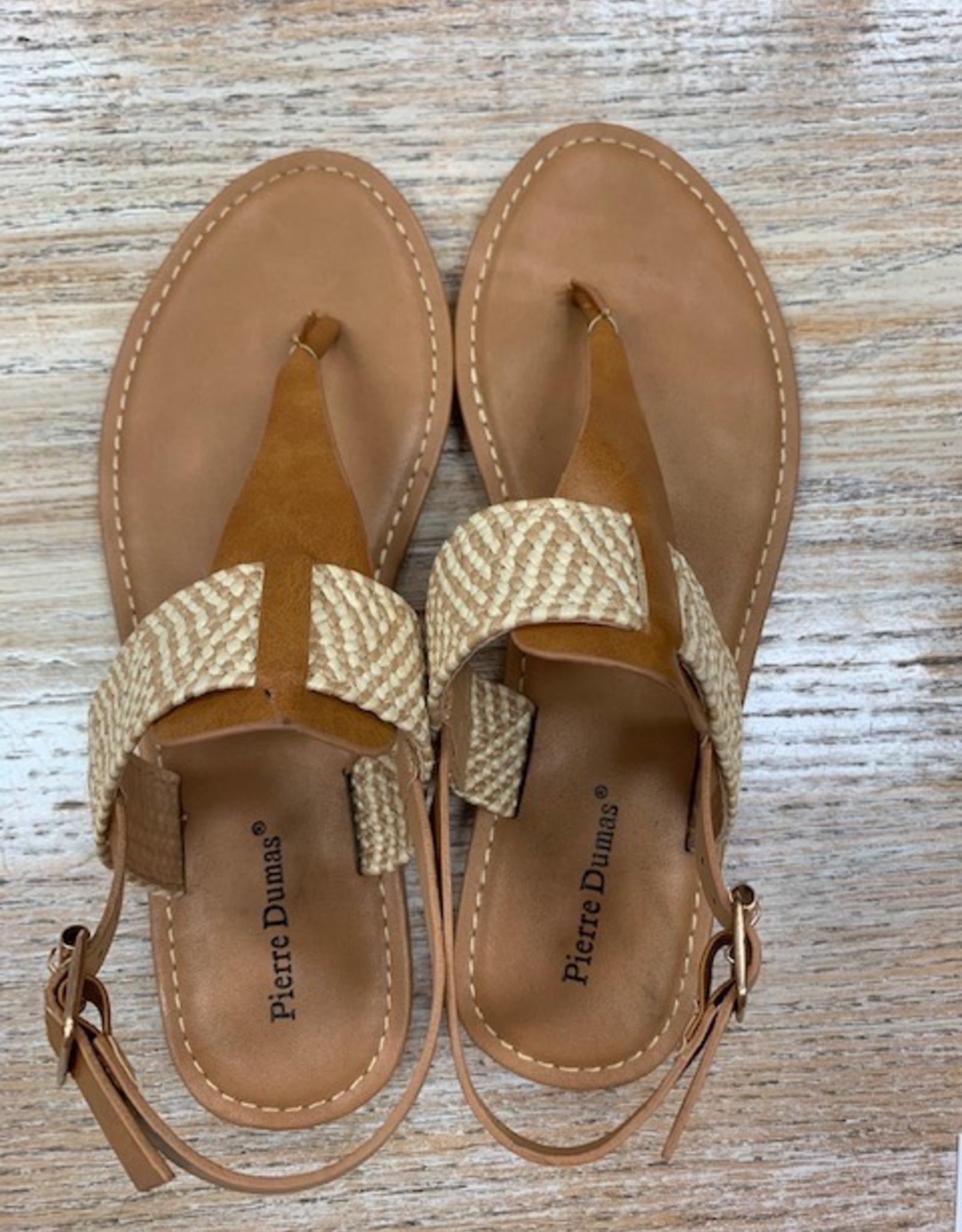 Shoes Camel Fabric Strap Sandals