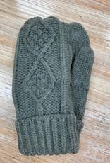 Gloves Gray Knit Mittens