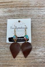 Jewelry TLD Brown Bling Earrings