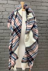 Scarf Plaid Square Blanket Scarf - P-20629