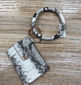 Wallet Dax Snakeprint Card Holder Bracelet