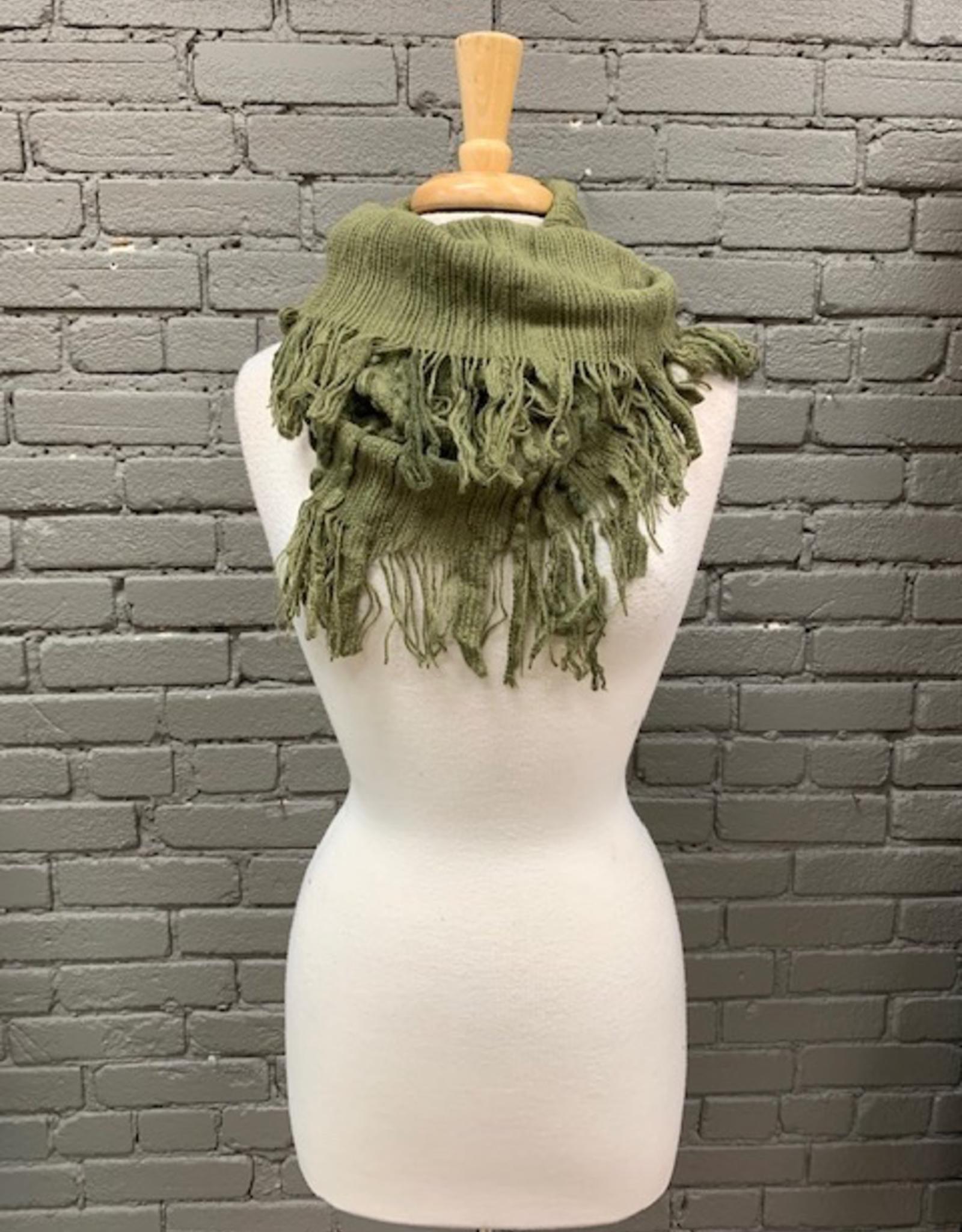 Scarf Gia Knit Infinity w/ Fringe