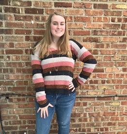 Sweater Wilma Chenille Stripe Sweater