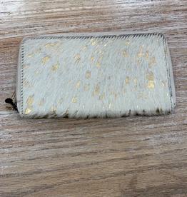 Wallet Gold Desire Lather Hairon Wallet