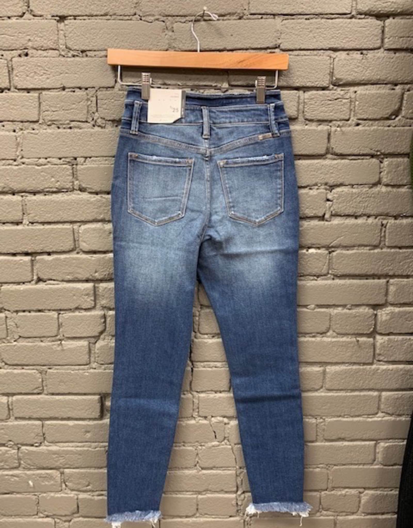 Jean Sandy High Rise Ankle Skinny Jeans