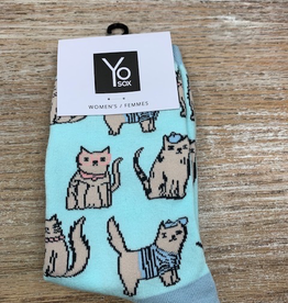 Socks Women's Crew Socks- Cats