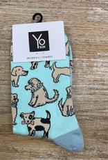 Socks Women's Crew Socks- Dogs