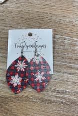 Jewelry TLD Plaid Snowflakes