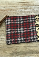 Bag Plaid Leopard Zip Pouch