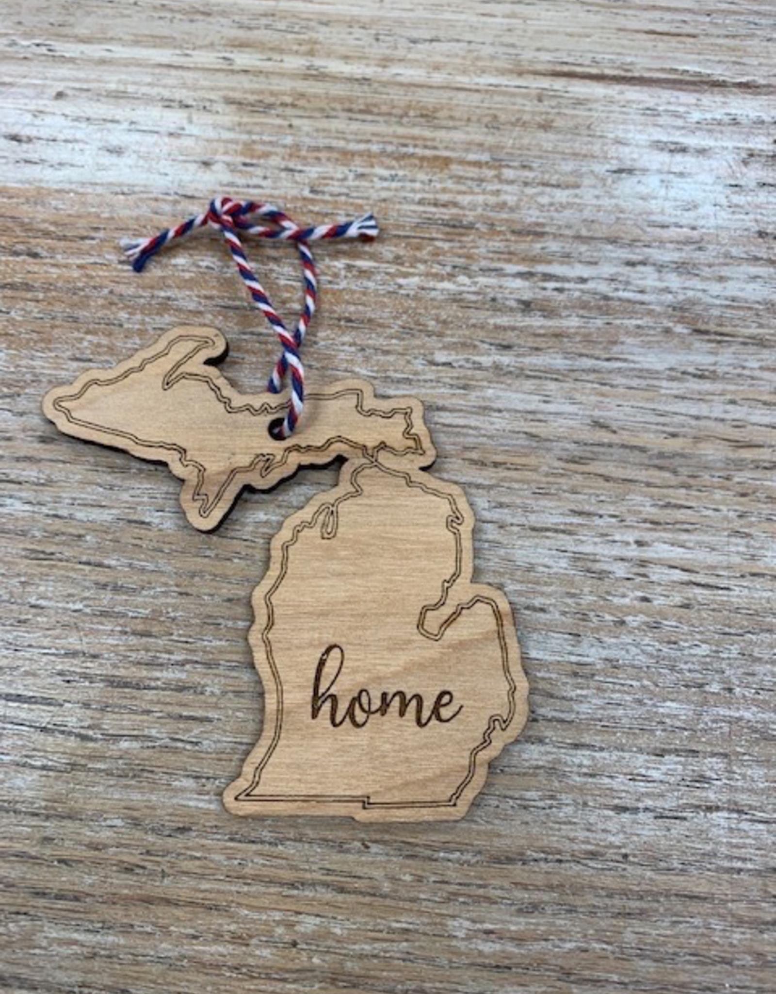 Decor Michigan Home Wood Ornament