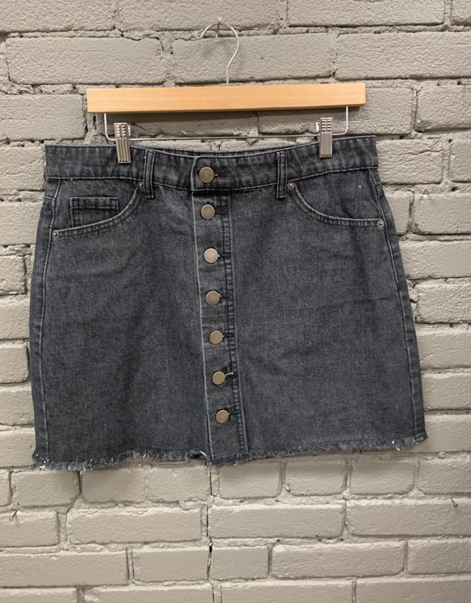 Skirt Fitz Black Button Skirt
