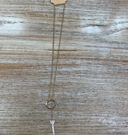 Jewelry Long Gold Necklace Silver Arrow