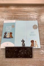 Card Dog Lover Birthday Chocolate Card
