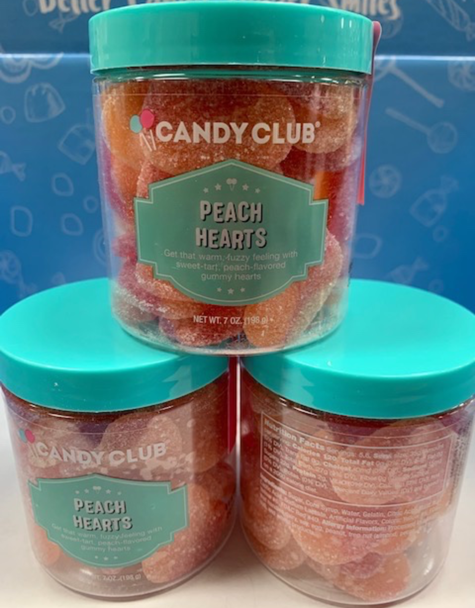 Candy Peach Hearts