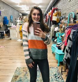 Sweater Angela Multi Stripe Sweater
