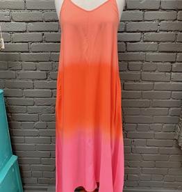 Dress Malone Pink Ombre Tie Dye Maxi