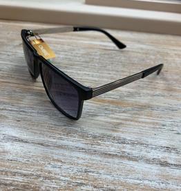 Sunglasses Sunglasses w/ Case- Black Silver