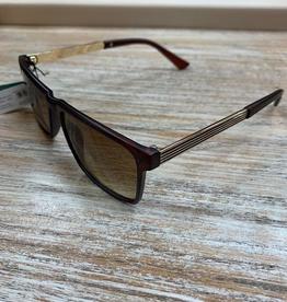 Sunglasses Sunglasses w/ Case- BrownGold