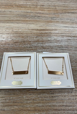 Jewelry Initial Bar Necklace