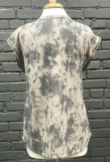 Tunic Athena Tie Dye Tunic Top Short Cap Sleeves