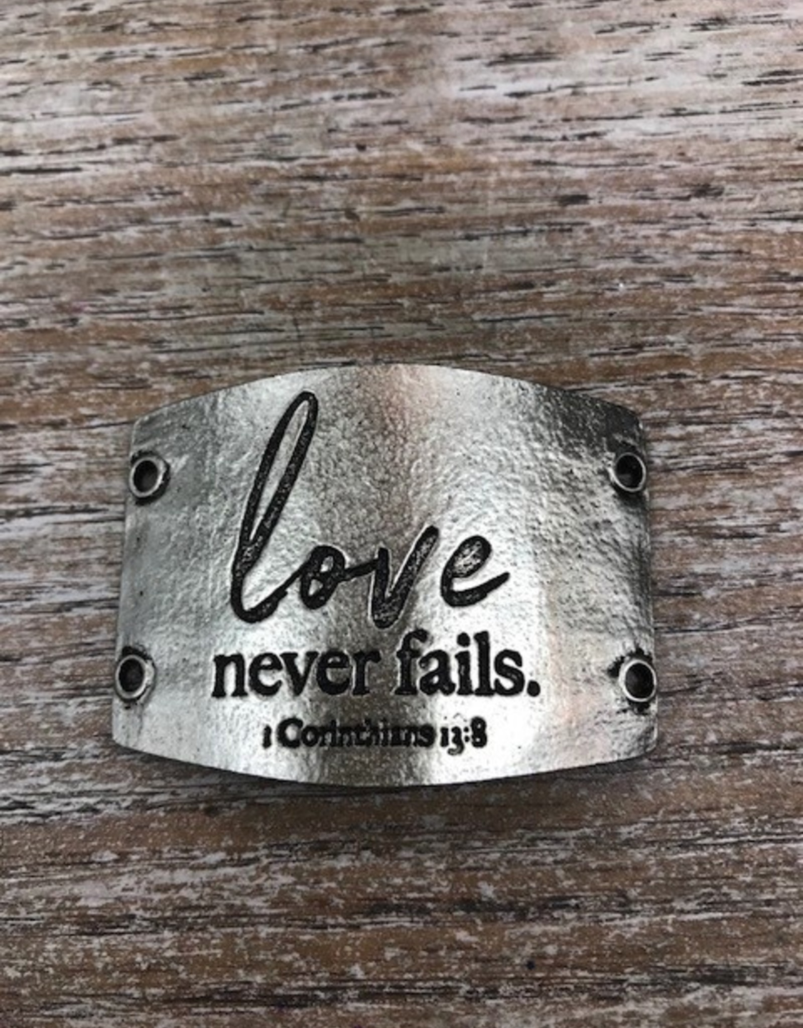 Jewelry Love Never Fails Sentiment