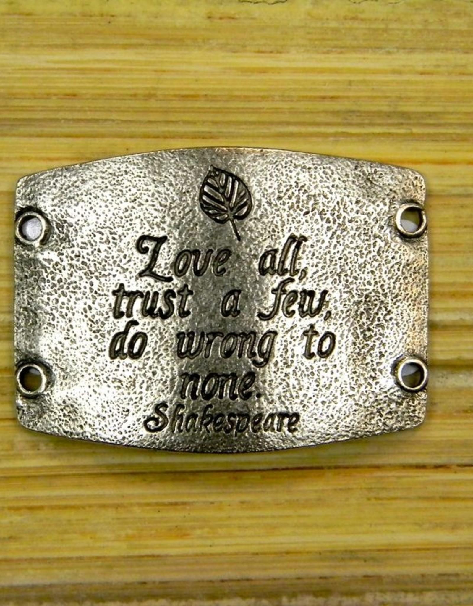 Jewelry Love All, Trust A Few Sentiment