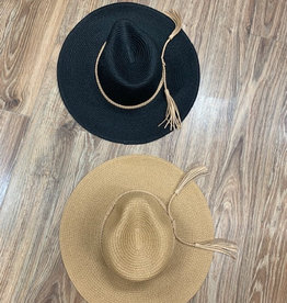 Hat Braided Tassel Fedora