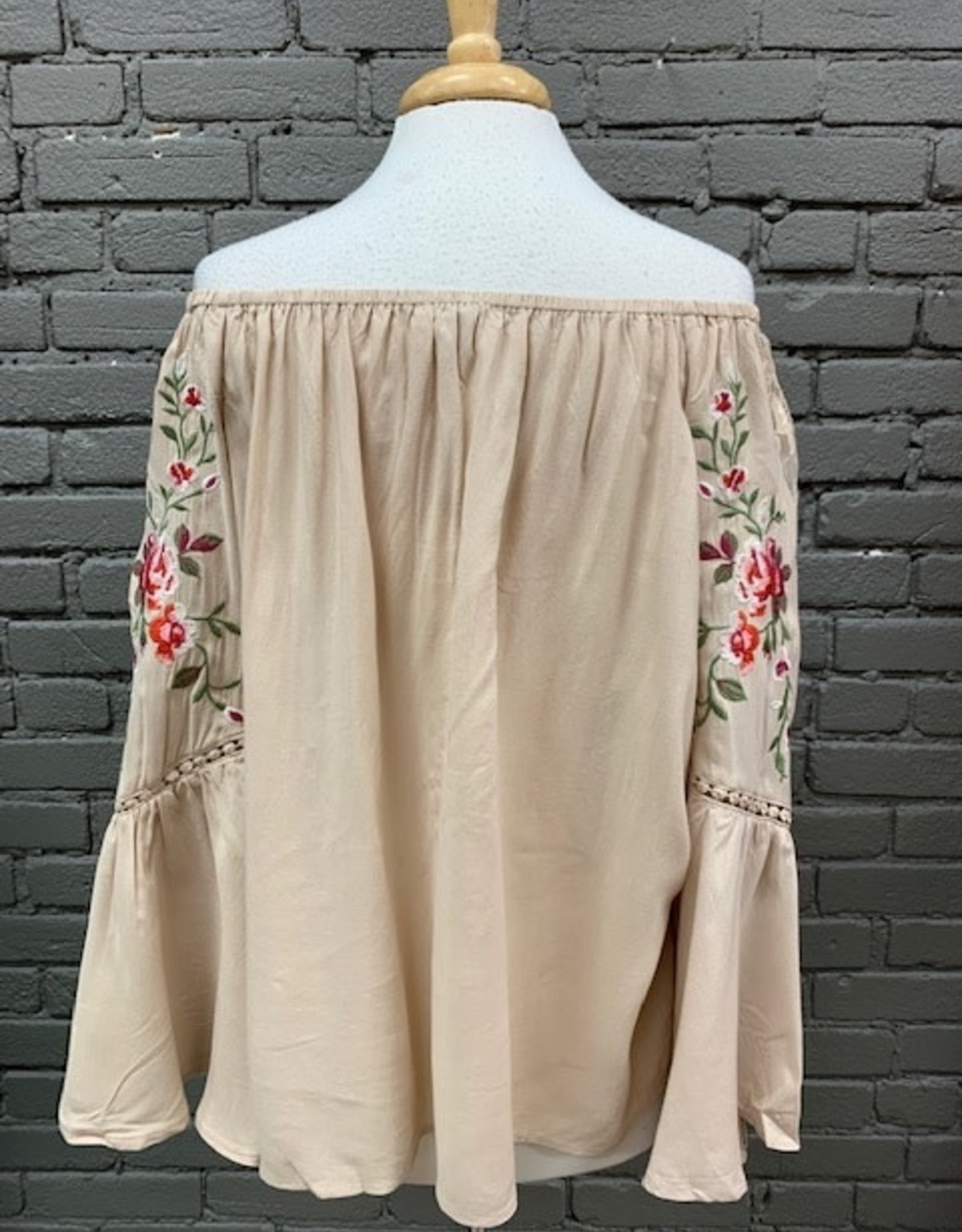 Top Angie OTS Embroid Top