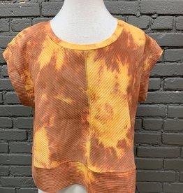 Shirt Cam Crop Tie Dye Top