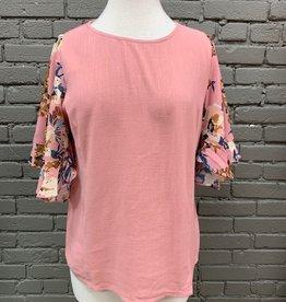 Shirt Essie Rose Top Floral Sleeves